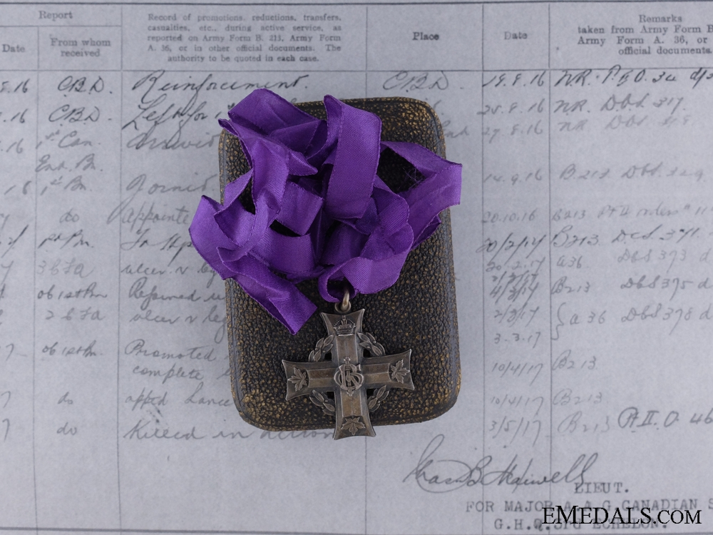eMedals-Memorial Cross to Joseph Hackett, 1st Infantry Battalion, M.M. for Operations at Vimy