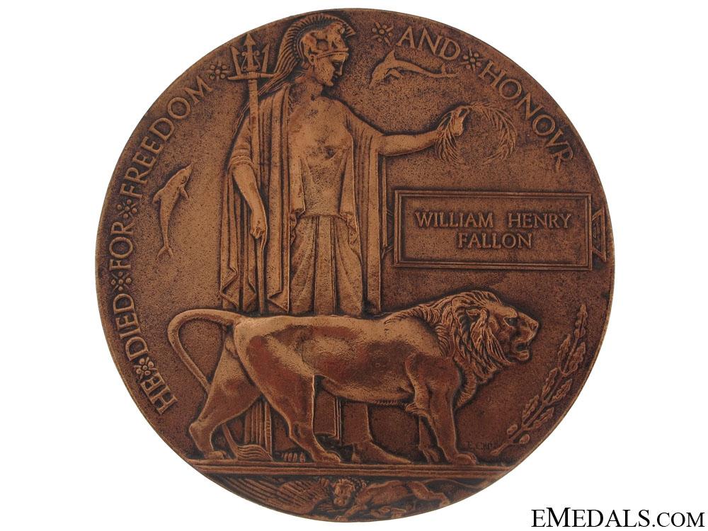eMedals-Memorial Plaque to WILLIAM HENRY FALLON