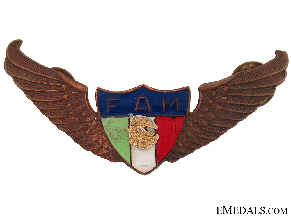 eMedals-Pre WW2 Old Mexican Pilot wing