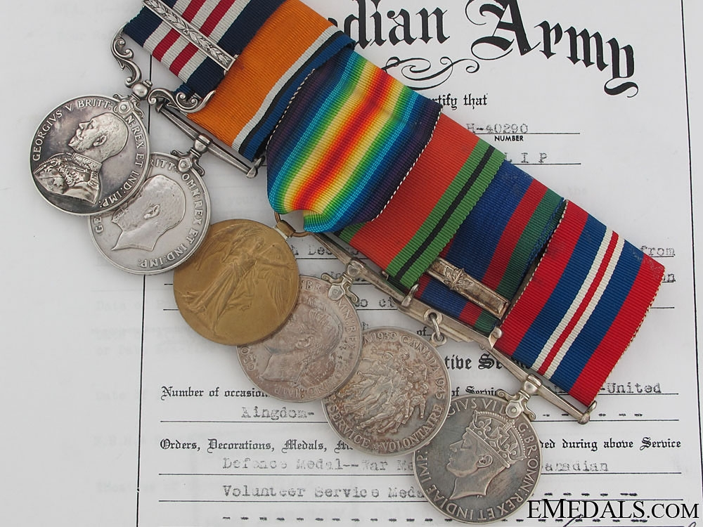 eMedals-Military Medal & Bar to the Manitoba Regiment