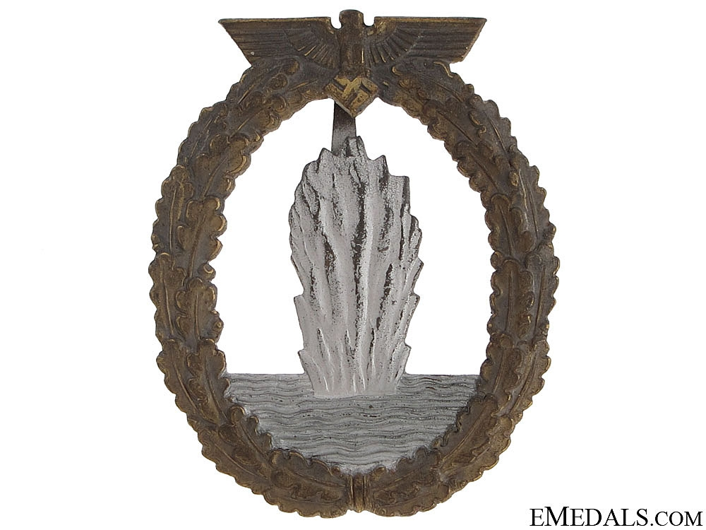 eMedals-Minesweeper War Badge - Zinc marked R.K.