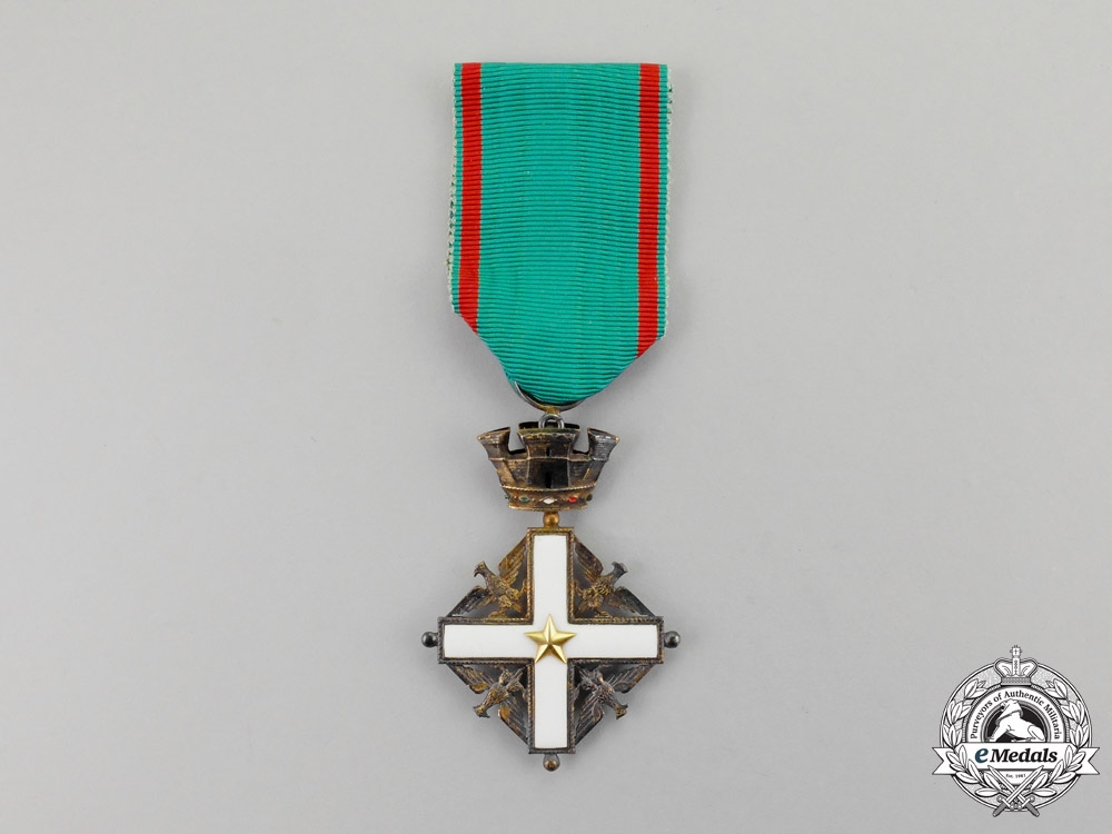 eMedals-Italy. An Order of Merit of the Italian Republic, 5th Class, Knight, 1951-2001, Fullsize and Miniature