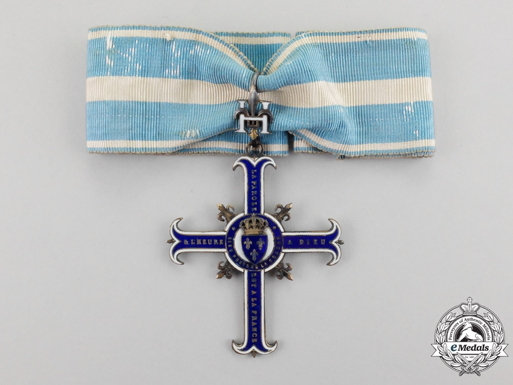 eMedals-France. A Cross of the Partisans of the Count of Chambord in Garnet of Perpignan