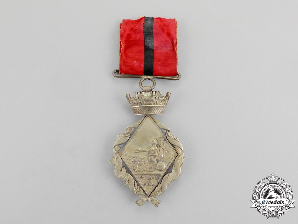 eMedals-Spain. A Campaign Medal for Cuba, Type II, c.1873