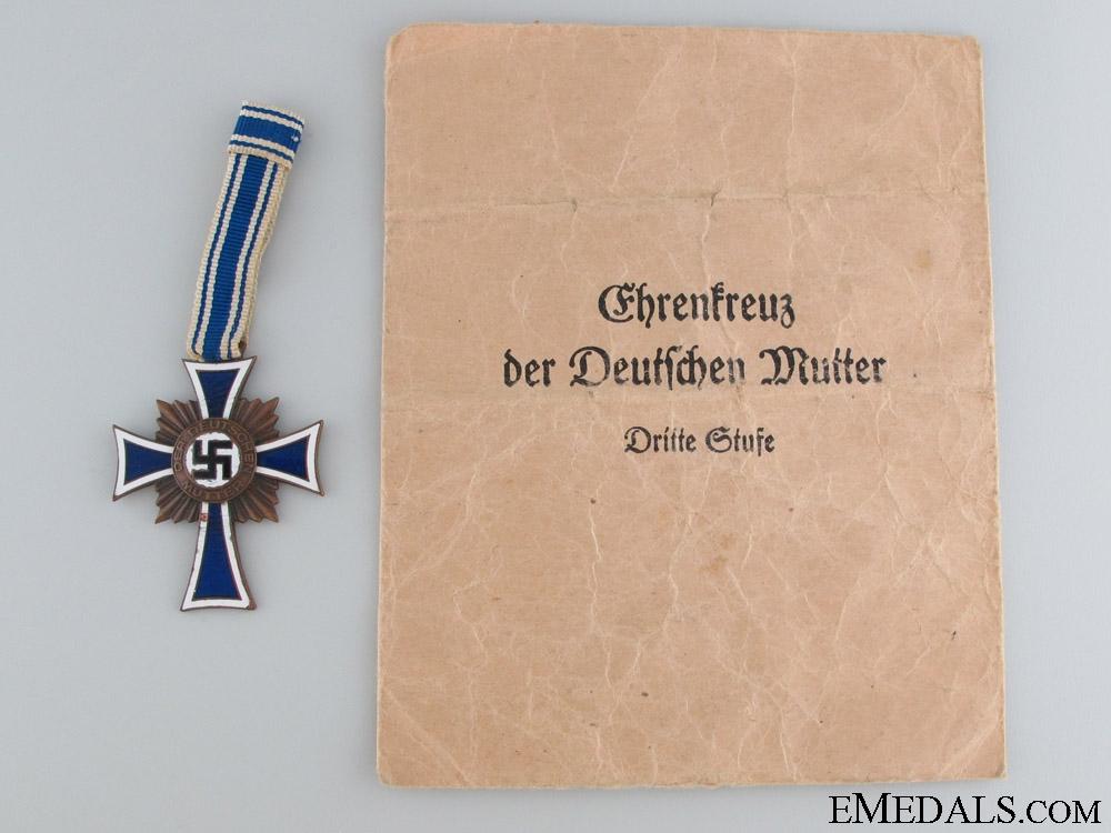 eMedals-Mother's Cross, Bronze Grade