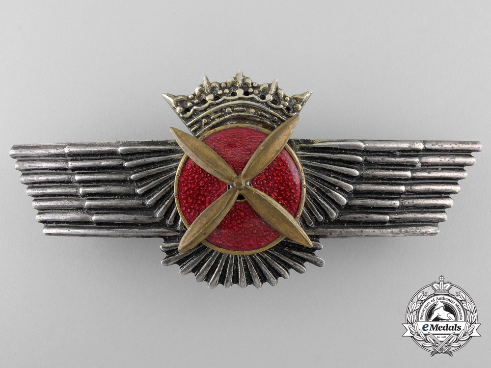 """eMedals-A Spanish Pilots Wing from the Estate of Walter """"Gulle"""" Oesau"""
