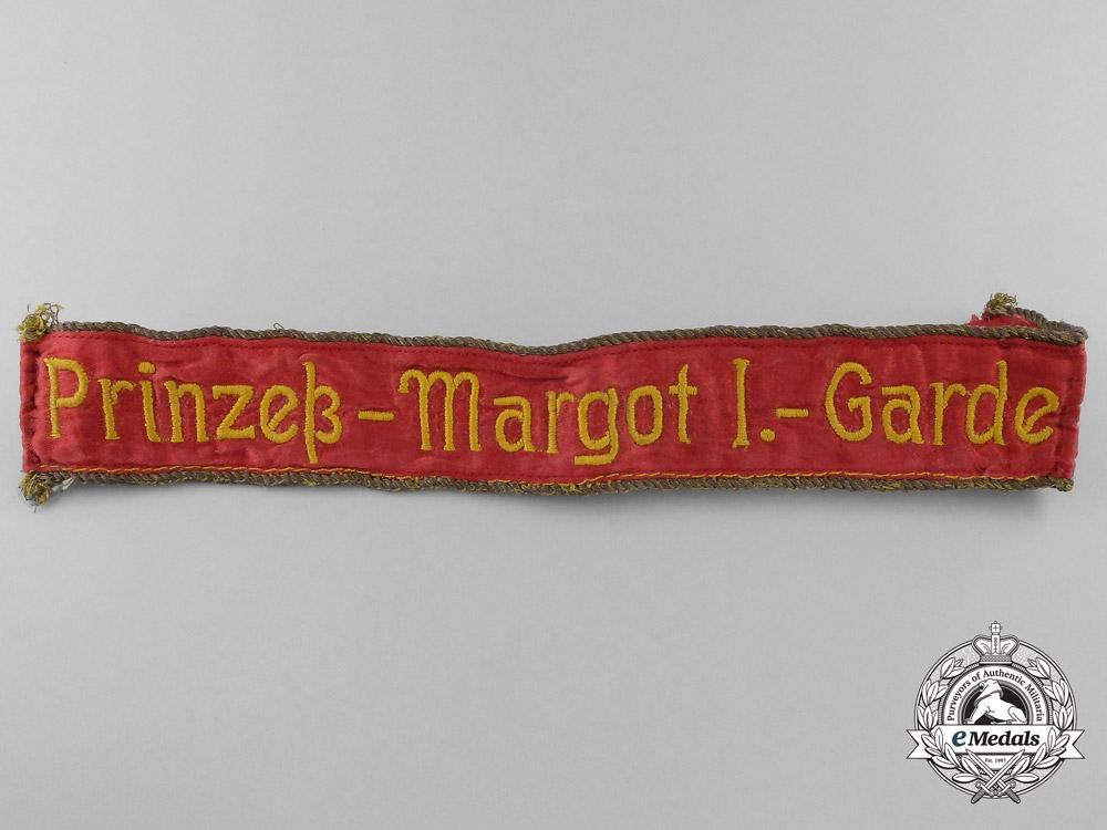 eMedals-A Rare 1918 Prussian 1st Princess Margaret Guard Cufftitle