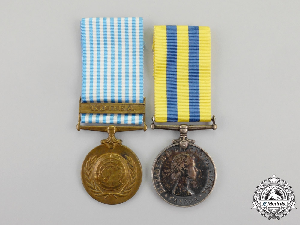 eMedals-Canada. A Korean War Pair, to C.P. Harvie