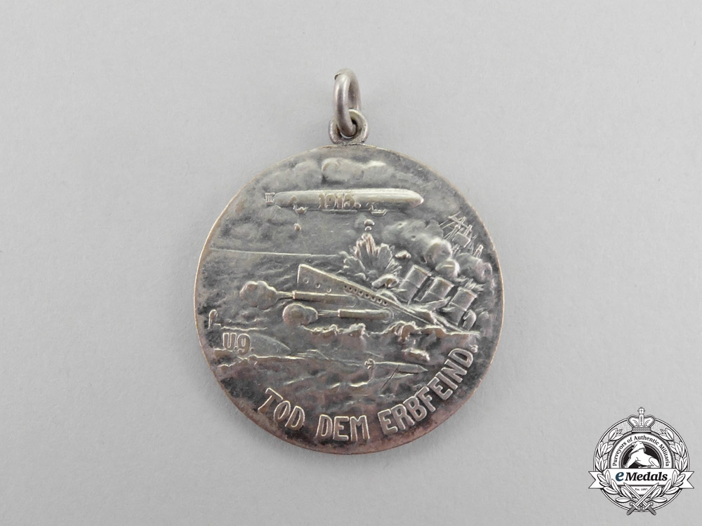 """eMedals-Germany. A First War """"Down with England - Death to the Archenemy"""" Patriotic Medal"""
