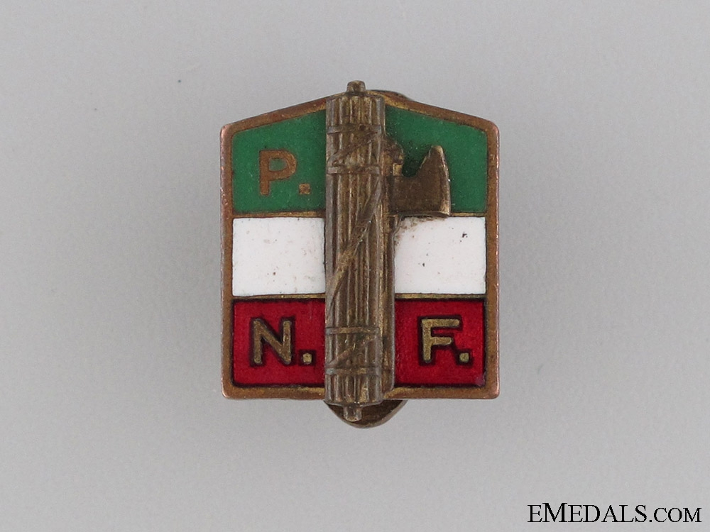 eMedals-National Fascist Party Membership Badge