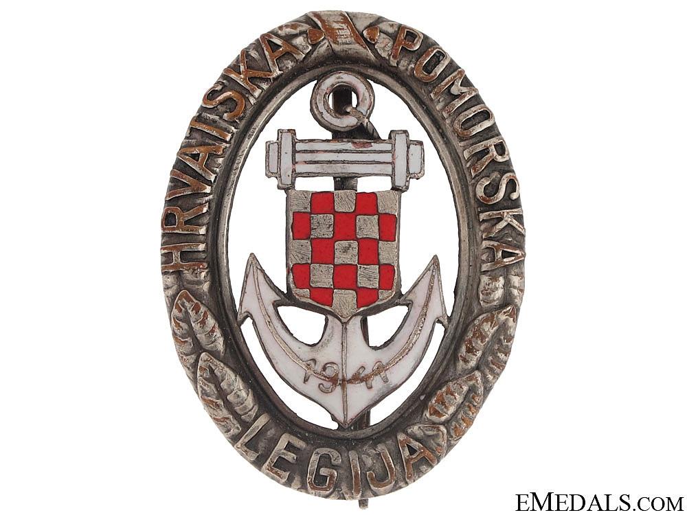 eMedals-Naval Badge of Croatian Naval Legion 1942-43