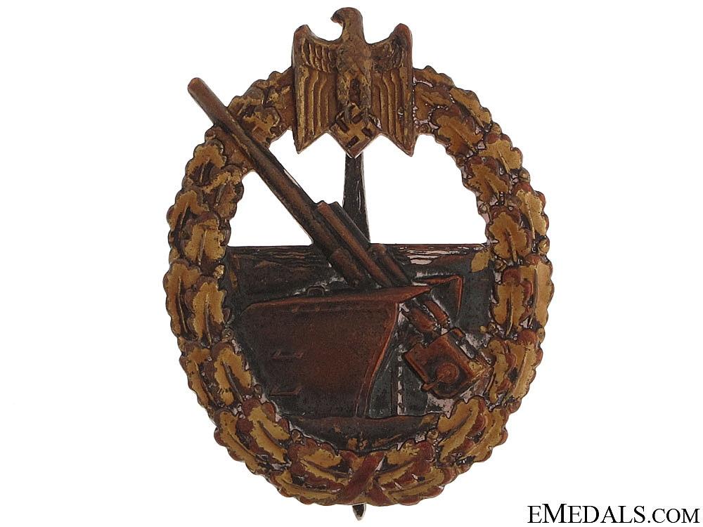eMedals-Naval Coastal Artillery Badge - Juncker