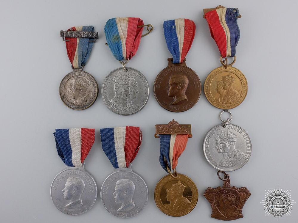 eMedals-Nine British Coronation & Jubilee Medals