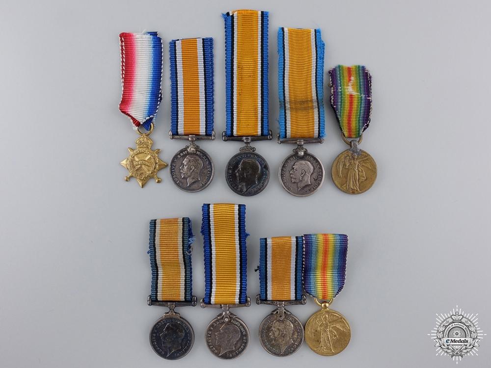 eMedals-Nine First War Miniature Service Medals