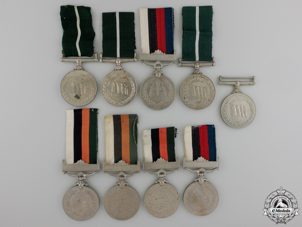 eMedals-Nine Pakistani Medals & Awards