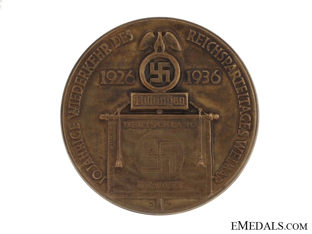 eMedals-NSDAP 10th Anniversary of the Party in Weimar Tinnie