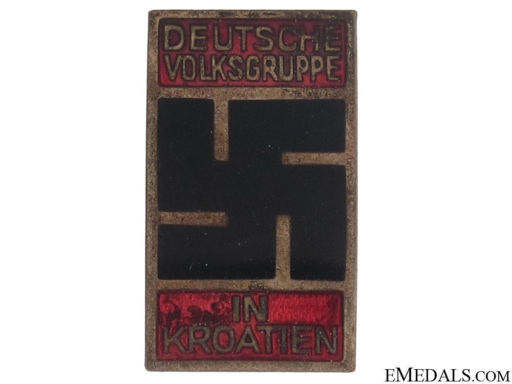 eMedals-NSDAP Badge of the German People in Croatia