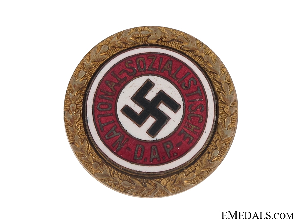 eMedals-NSDAP Golden Party Badge - J. Fuess