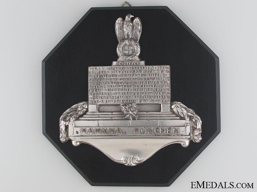 eMedals-NSDAP-Mahnmal München Plaque
