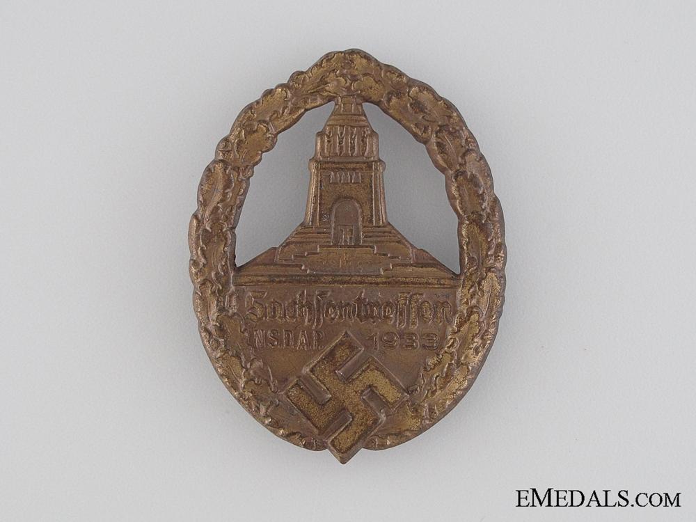 eMedals-NSDAP Saxony Gathering Tinnie, 1933