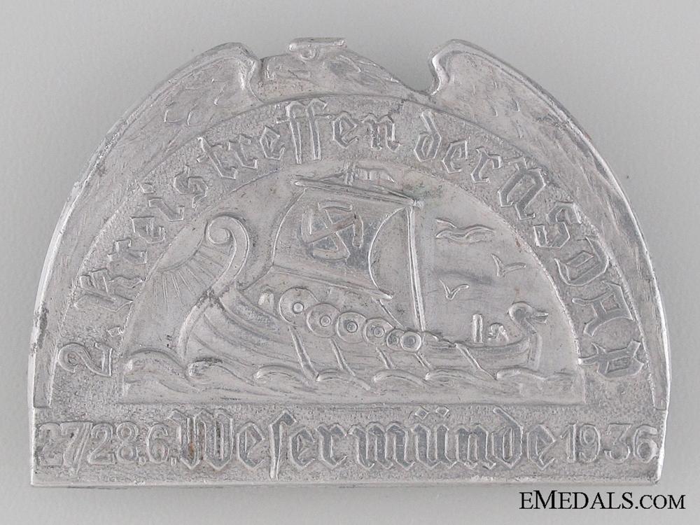 eMedals-NSDAP Tinnie with Viking Ship 1936