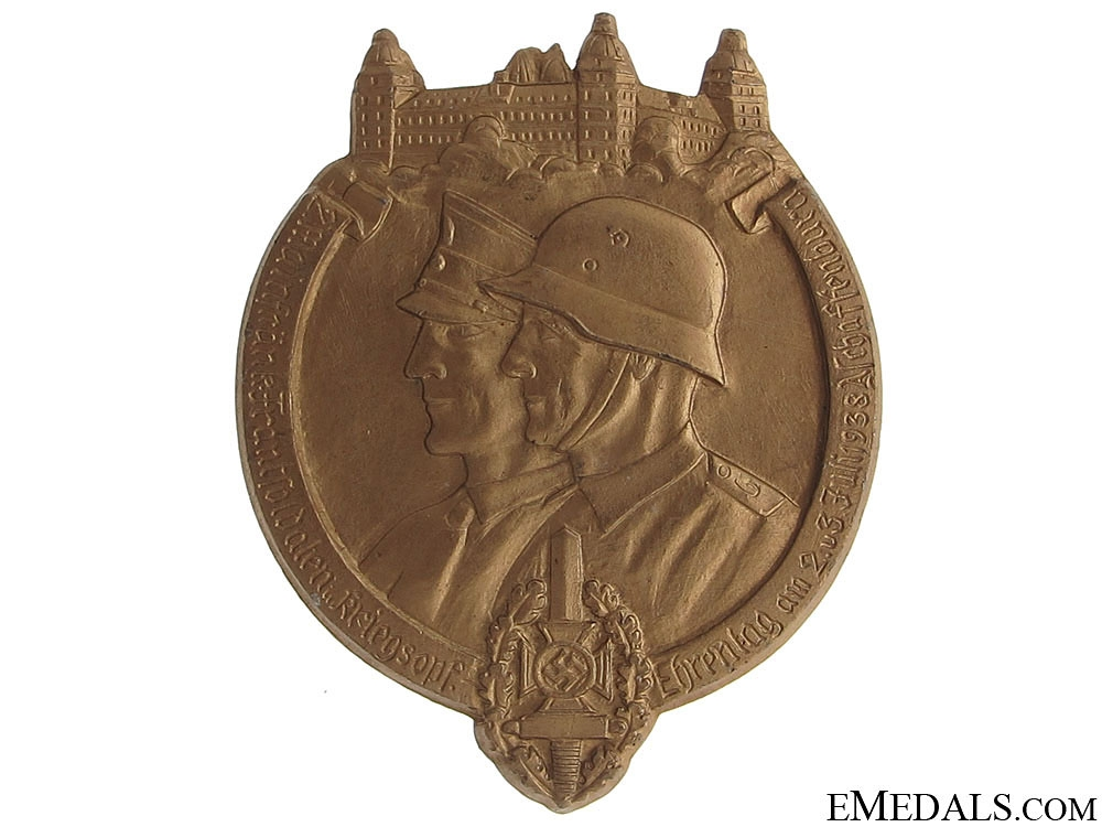 eMedals-NSKOV Front Line Soldiers Day 1938 Badge