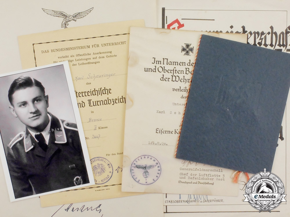 eMedals-An Extensive Document Collection to Unteroffizier Scheuringer; Battle of Britain POW