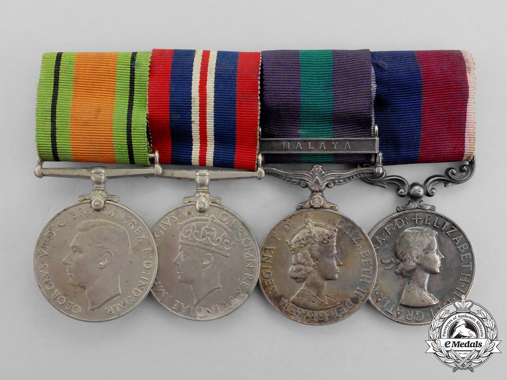 eMedals-A Second War &  Malaya Service Royal Air Force Long Service Group G