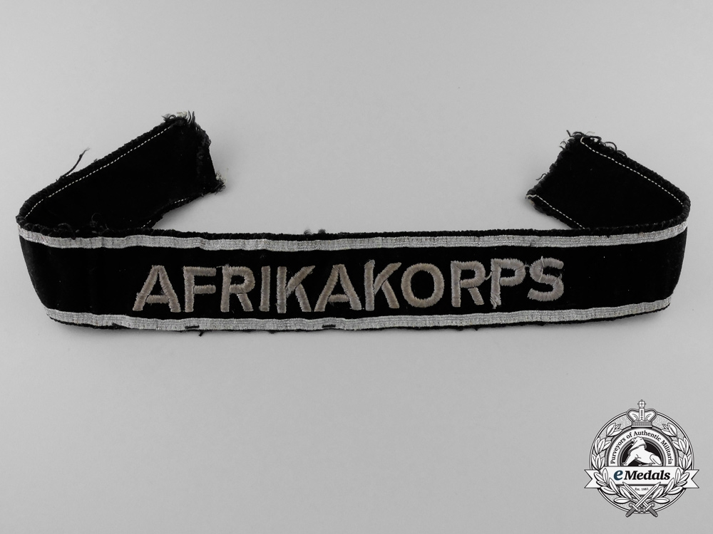eMedals-A Scarce First Type Afrika Campaign Cufftitle
