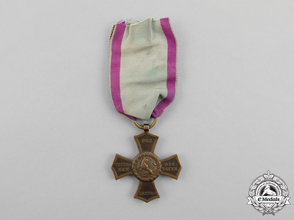 eMedals-Bavaria. An 1848 Veteran's Cross for Participants of the 1790-1812 Conflicts