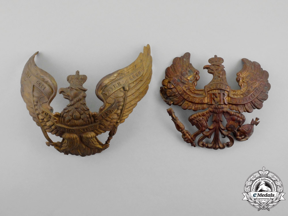 eMedals-Two Prussian Pickelhaube Plates
