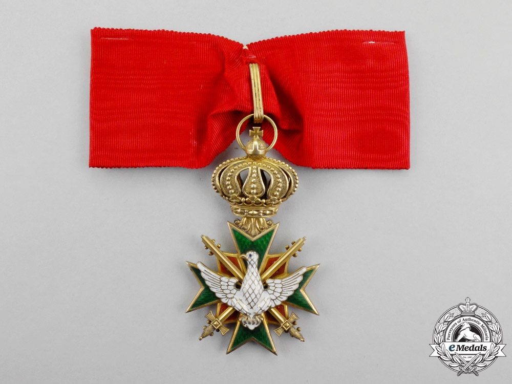 eMedals-Saxon-Weimar. An 1870-1918 Order of the White Falcon Commander Cross with Swords