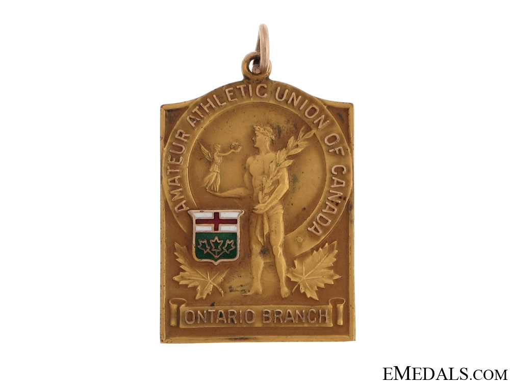 eMedals-Ontario Boxing Championship Medal in Gold - 1932