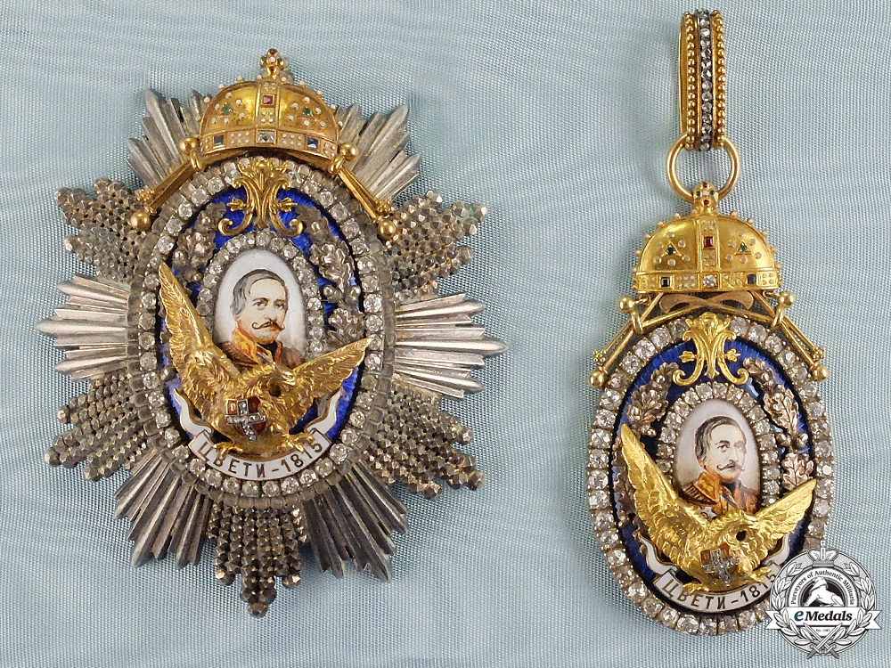eMedals-A Unique Serbian Order of Miloš the Great in Gold and Diamonds (1899-1903)