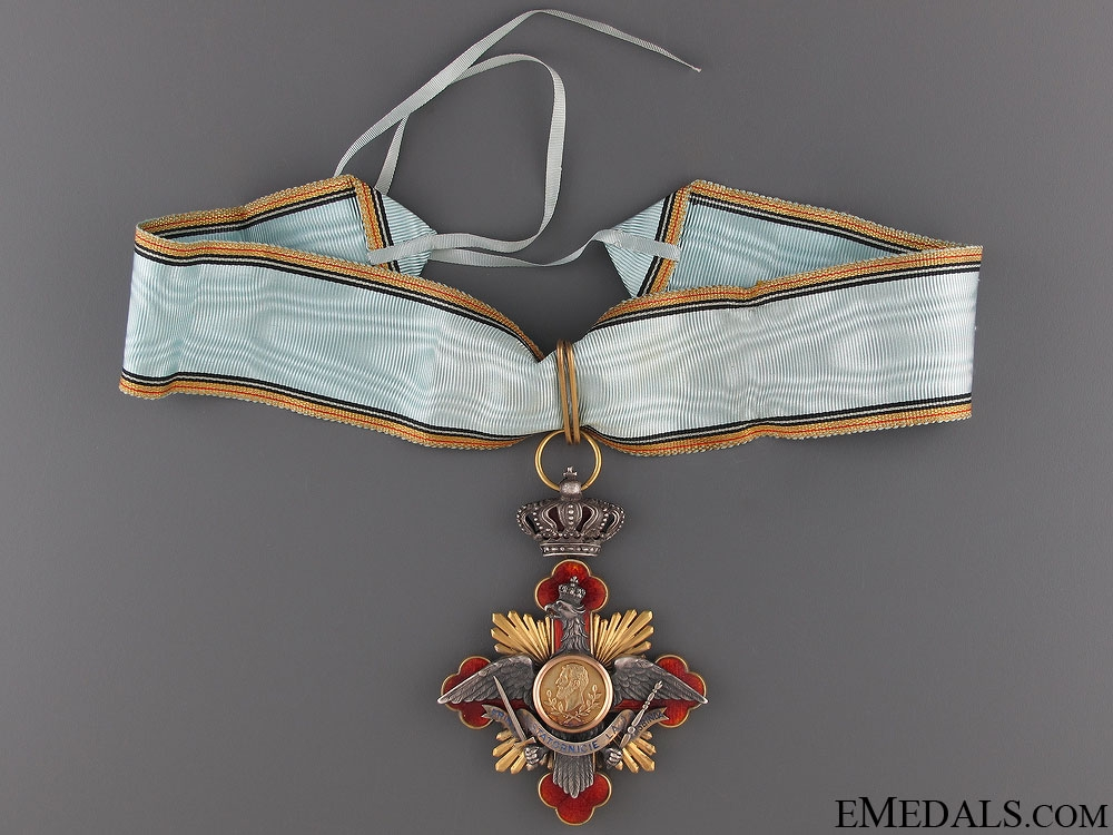 eMedals-A Rare Romanian Order of Carol I; Commanders Neck Cross