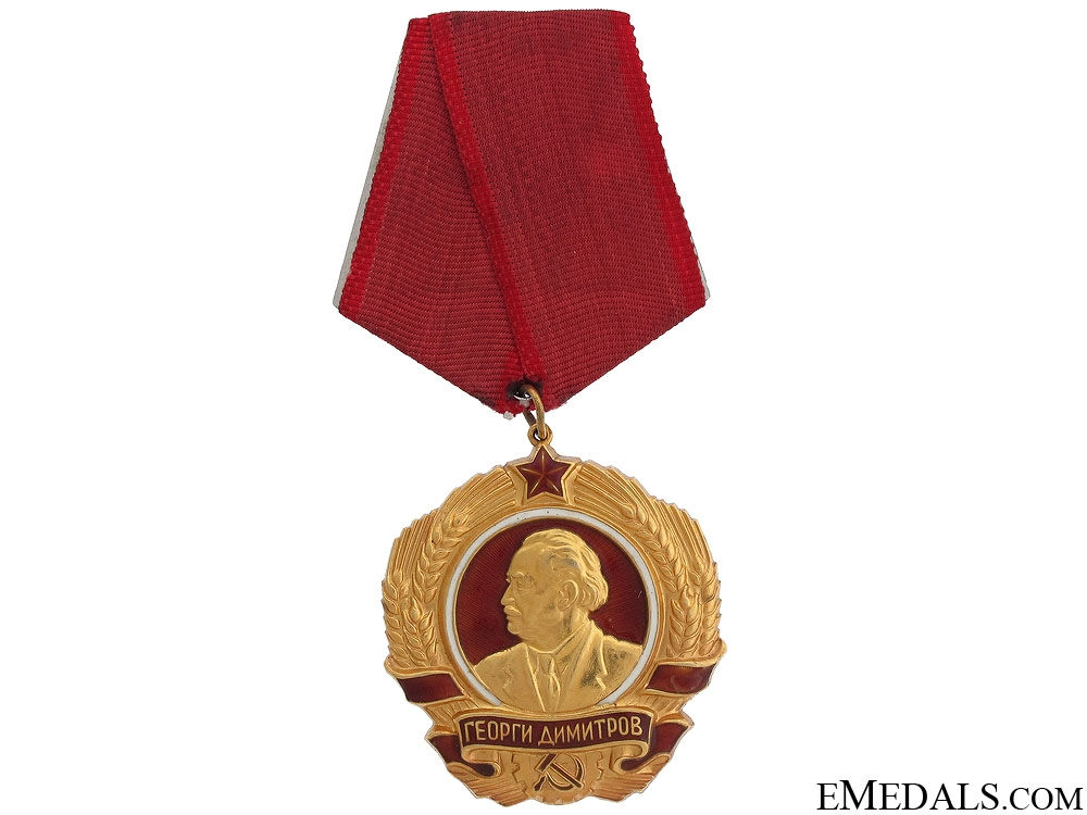 eMedals-Order of Georgi Dimitrov in Gold