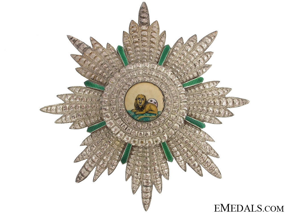 eMedals-Order of Lion and Sun - Breast Star