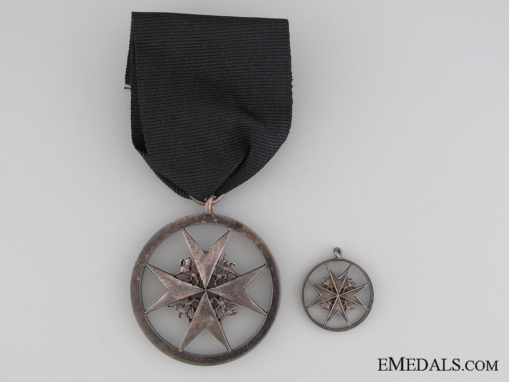 eMedals-Order of St. John, Brother Breast Badge, Fullsize and Miniature