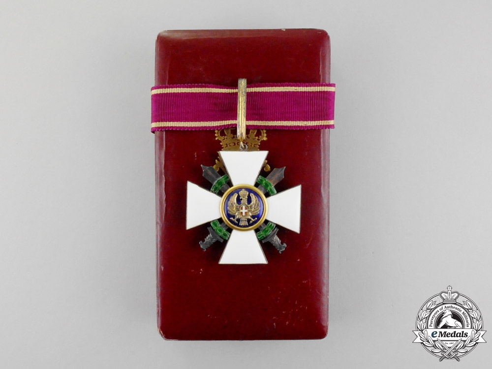 eMedals-Italy. An Order of the Roman Eagle, 3rd Class, Commander with Swords, Military Division, Type I (1942-1943)