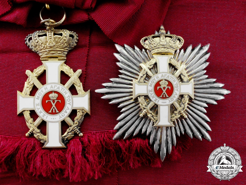 eMedals-Greece. A Royal Order of George I, Military Division with Swords, Grand Cross by Spinks