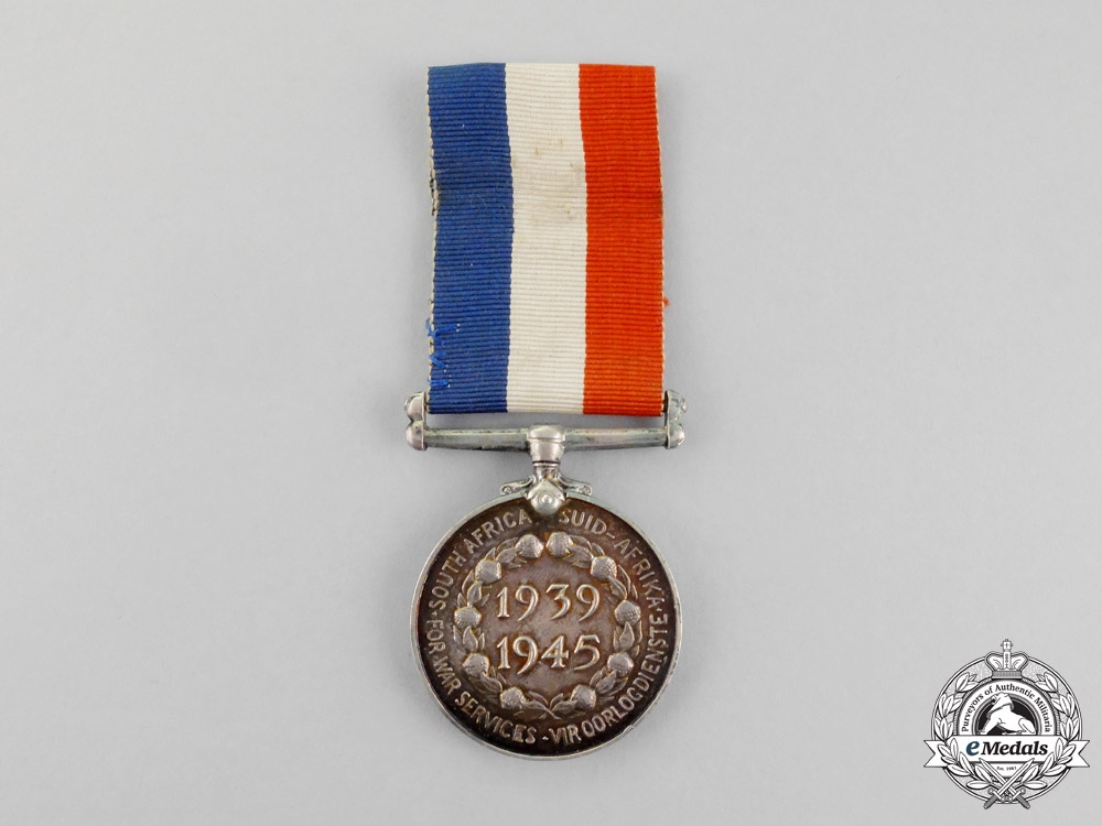 eMedals-South Africa. A Second War Medal for War Services 1939-1945