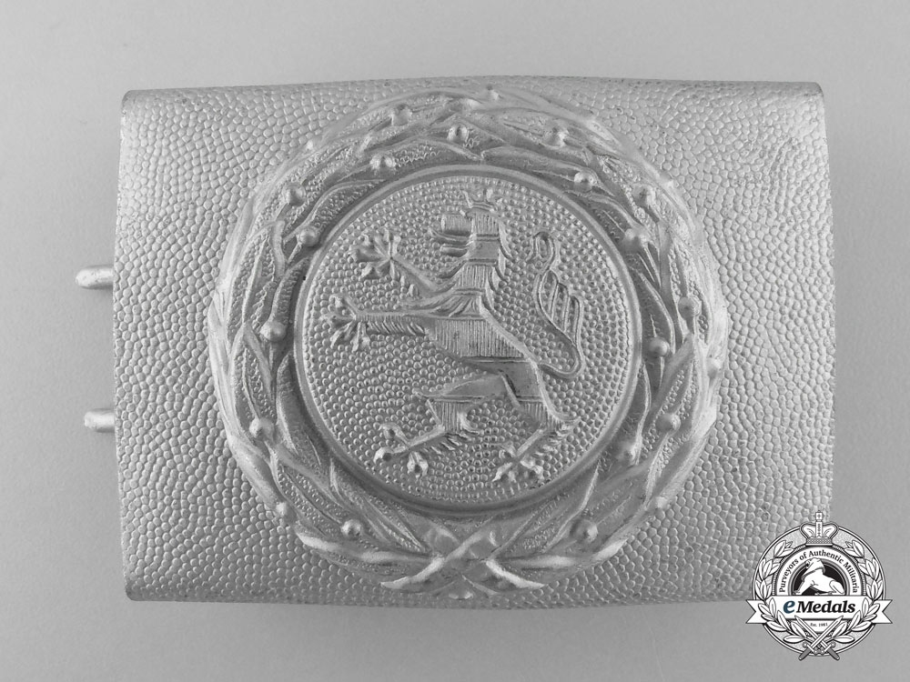 eMedals-A Third Reich Hesse Fire Defence Service Enlisted Man's Belt Buckle; Published Example