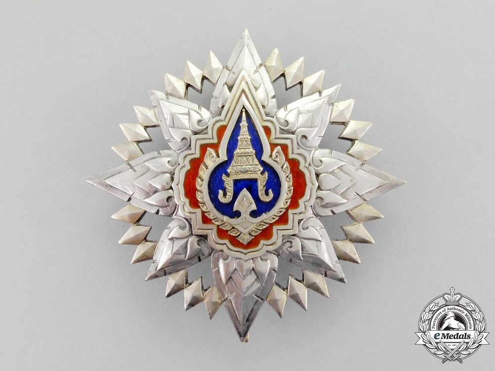 eMedals-Thailand, Kingdom. A Most Noble Order of the Crown, II Class Star, c.1950