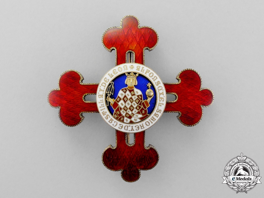 eMedals- Spain. A Civil Order of Alfonso X the Wise, Grand Cross Breast Star