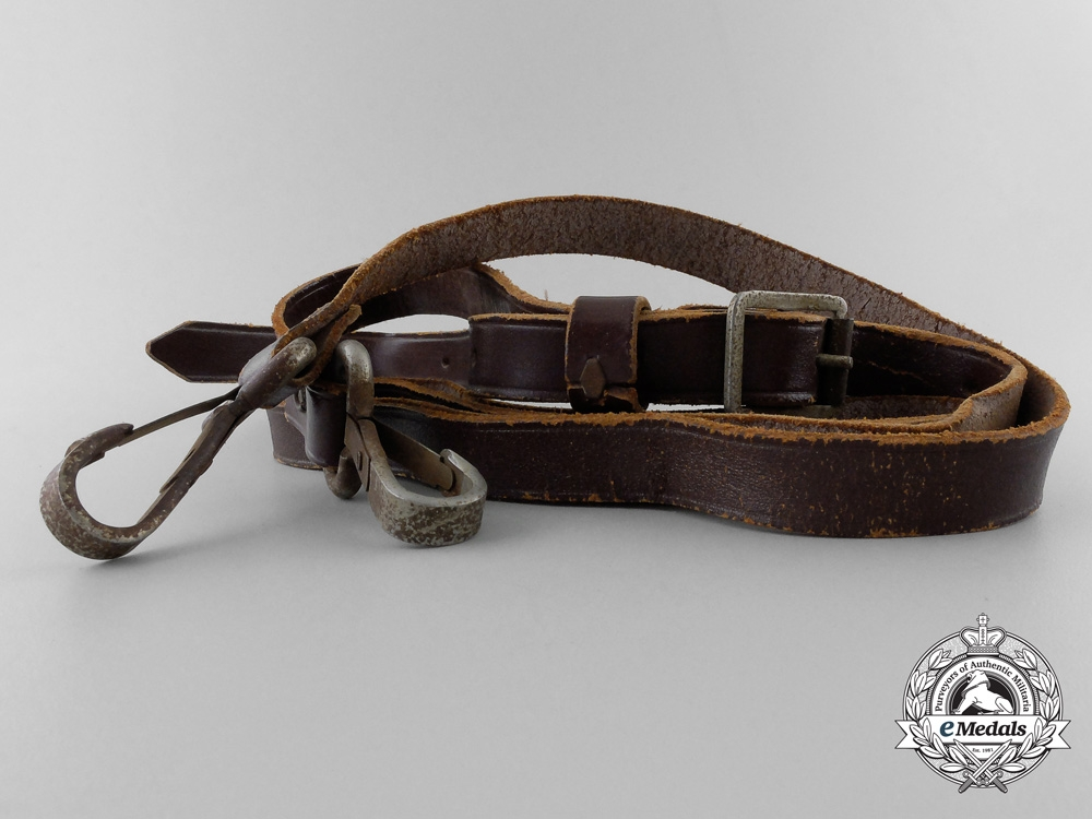 eMedals-A German Brown Leather Shoulder Strap