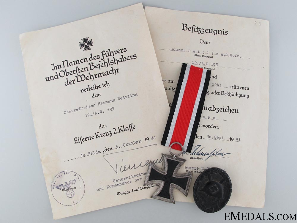 eMedals-Awards & Documents to the 12./A.R.193