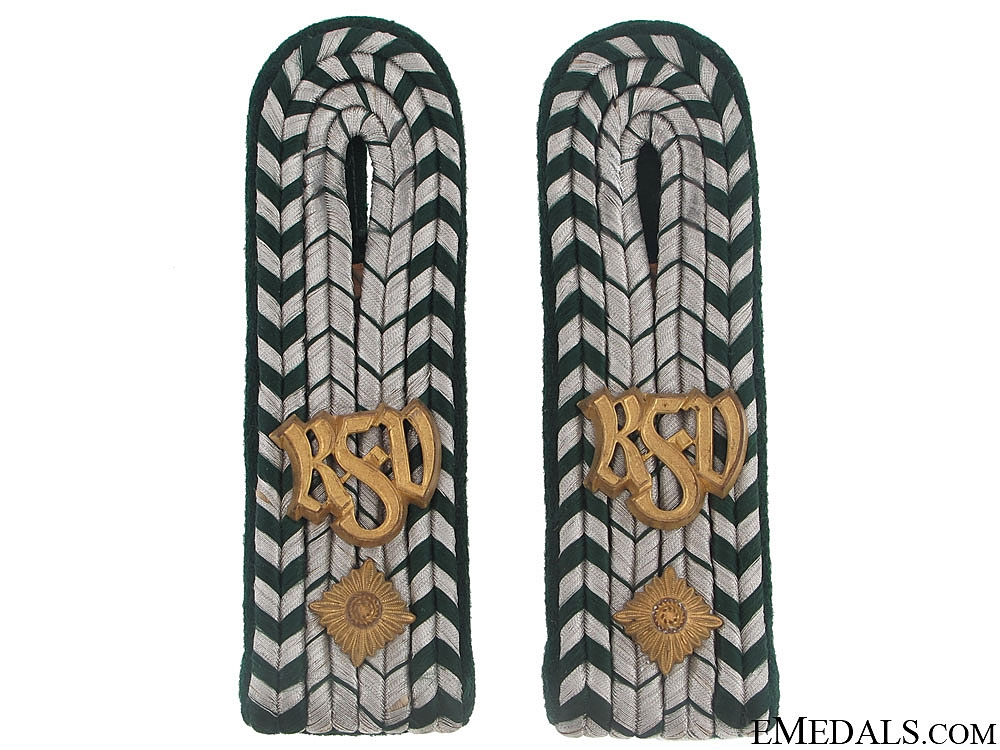 eMedals-Pair of Shoulder boards - Customs Officer