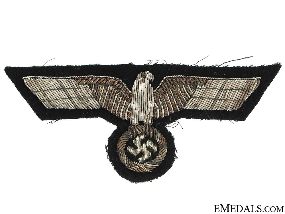 eMedals-Panzer Officer's Bullion Breast Eagle