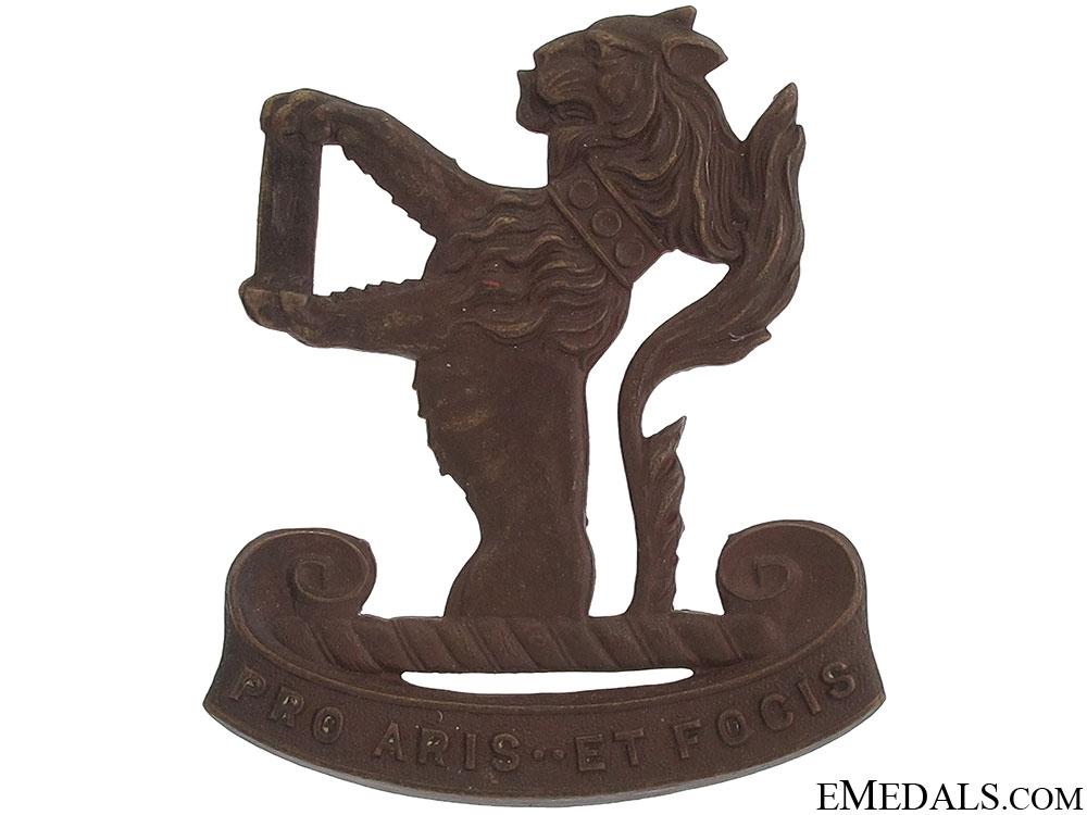 eMedals-Peel & Dufferin Regiment Cap Badge