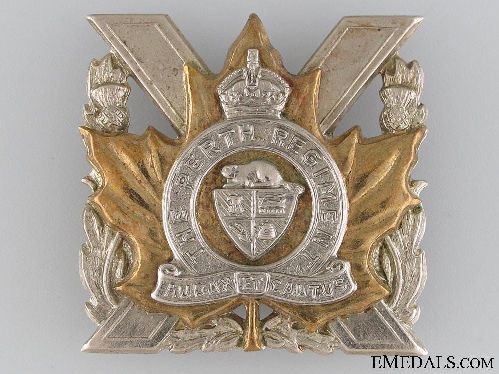 eMedals-Perth Regiment Cap Badge c.1948